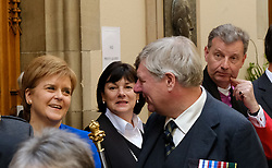 Pictured: The First Minister made friends as she attended the first day of the 2018 General Assembly<br /> <br /> The 2018 General Assembly of the Church of Scotland begins.This year's annual gathering runs until Friday May 25<br /> <br /> Ger Harley | EEm 19 May 2018