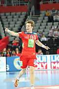 Kristian Bjornsen (Norway) celebrates during the EHF 2018 Men's European Championship, 2nd Round, Handball match between Serbia and Norway on January 18, 2018 at the Arena in Zagreb, Croatia - Photo Laurent Lairys / ProSportsImages / DPPI