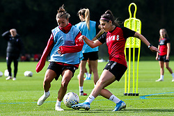 Carla Humphrey and Loren Dykes of Bristol City Women during training at Failand - Mandatory by-line: Robbie Stephenson/JMP - 26/09/2019 - FOOTBALL - Failand Training Ground - Bristol, England - Bristol City Women Training
