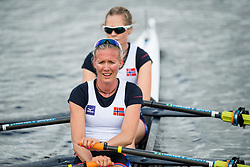August 5, 2018 - Glasgow, UNITED KINGDOM - 180805 Siri Eva Kristiansen and Maia Lund of Norway after the final B of women's lightweight double sculls rowing during the European Championships on August 5, 2018 in Glasgow..Photo: Jon Olav Nesvold / BILDBYRÃ…N / kod JE / 160285 (Credit Image: © Jon Olav Nesvold/Bildbyran via ZUMA Press)