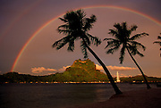Double rainbow, Bora Bora, French Polynesia