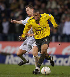 Bolton, England - Wednesday, February 14, 2007: Arsenal's Julio Baptista and Bolton Wanderers' captain Kevin Nolan during the FA Cup 4th Round Replay at the Reebok Stadium. (Pic by David Rawcliffe/Propaganda)