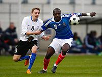 Fotball<br /> Frankrike v Estland<br /> Foto: DPPI/Digitalsport<br /> NORWAY ONLY<br /> <br /> FOOTBALL - FRIENDLY GAMES 2008/2009 - UNDER 21 - FRANCE v ESTONIA - 27/03/2009 - MOUSSA SISSOKO (FRA) / SIIM LUTS (ES)