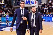 Matteo Soragna, Paolo Galbiati<br /> Banco di Sardegna Dinamo Sassari - Fiat Auxilium Torino<br /> LBA Serie A Postemobile 2018-2019<br /> Sassari, 28/10/2018<br /> Foto L.Canu / Ciamillo-Castoria