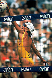 AVP/WPVA Professional Beach Volleyball/Womans Professional Volleyball - San Francisco, CA - 1996 - Karoline Kirby -  Photo by Wally Nell/Volleyball Magazine