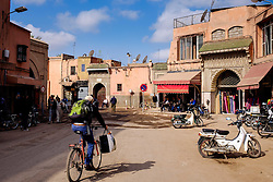 A general view of a street outside the Medina in Marrakech, Morocco, North Africa<br /> <br /> (c) Andrew Wilson | Edinburgh Elite media