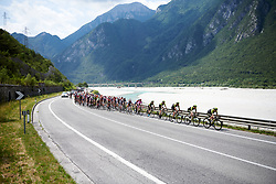 The peloton lead by Mitchelton Scott approach the final climb during Stage 9 of 2019 Giro Rosa Iccrea, a 125.5 km road race from Gemona to Chiusaforte, Italy on July 13, 2019. Photo by Sean Robinson/velofocus.com