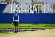 Brooke M. Henderson (CAN) watches her putt on 18 during the playoff hole during round 4 of the 2020 ANA Inspiration, Mission Hills C.C., Rancho Mirage, California, USA. 9/13/2020.<br /> Picture: Golffile | Ken Murray<br /> <br /> All photo usage must carry mandatory copyright credit (© Golffile | Ken Murray)