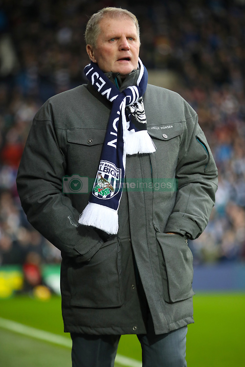 """Len Cantello during a tribute to Cyrille Regis ahead of the Premier League match at The Hawthorns, West Bromwich. PRESS ASSOCIATION Photo. Picture date: Saturday February 3, 2018. See PA story SOCCER West Brom. Photo credit should read: Nick Potts/PA Wire. RESTRICTIONS: EDITORIAL USE ONLY No use with unauthorised audio, video, data, fixture lists, club/league logos or """"live"""" services. Online in-match use limited to 75 images, no video emulation. No use in betting, games or single club/league/player publications."""