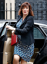 © Licensed to London News Pictures. 10/05/2016. London, UK. Secretary of State for Education NICKY MORGAN arrives at Number 10 Downing Street in Westminster, London for cabinet meeting. Photo credit: Tolga Akmen/LNP