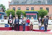 Podium Individual Dressage 1. Lucie Anouk Baumgurtel - Massimiliano, 2. Inga Katharina Schuster - NK Cyrill, 3. Louise Christensen - Vegelins Goya<br /> FEI European Championships Ponies 2016<br /> © DigiShots