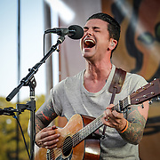 Dashboard Confessional performing at Silopnna Festival on August 16, 2014.