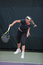 March 23, 2018 - Key Biscayne, Florida, United States Of America - KEY BISCAYNE, FL - MARCH 23: (EXCLUSIVE COVERAGE) Caroline Wozniacki on the practice court on day 5 of the Miami Open at Crandon Park Tennis Center on March 23, 2018 in Key Biscayne, Florida. ...People:  Caroline Wozniacki. (Credit Image: © SMG via ZUMA Wire)