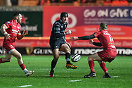 Ospreys' Sam Davies kick through - Mandatory by-line: Craig Thomas/Replay images - 26/12/2017 - RUGBY - Parc y Scarlets - Llanelli, Wales - Scarlets v Ospreys - Guinness Pro 14