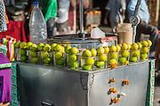 Lime juice street stall (India)