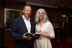 19/08/2015<br /> Pictured at the opening night of 'The Bog of Cats' by Marina Carr at The Abbey Theatre were Henry Fingleton and Paula Byrne.
