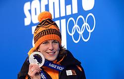 17-02-2014 ALGEMEEN: OLYMPIC GAMES HULDIGING: SOTSJI<br /> Huldiging van de 1500 meter op Medal Plaza /  Ireen Wust<br /> ©2014-FotoHoogendoorn.nl