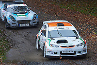 #11 Alan Oldfield / Stephen McNulty Proton Millington Bolton-le-Moors Beaver Plant hire during Neil Howard Memorial Stage Rally, and opening round of the 2015 Motorsport News Rally Championship.  at Oulton Park, Little Budworth, Cheshire, United Kingdom. November 07 2015. World Copyright Peter Taylor. Copy of publication required for printed pictures.  Every used picture is fee-liable. http://archive.petertaylor-photographic.co.uk