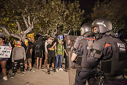 October 1, 2018 - Barcelona, Catalonia, Spain - Riot policemen in the entrance of Catalonia Parlament during the riots in Barcelona after one year anniversary of catalan elections for independence on 1st of october 2017. (Credit Image: © Celestino Arce Lavin/ZUMA Wire)