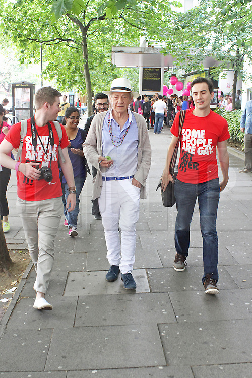 © Licensed to London News Pictures. 28/06/2014. London, UK  Sir Ian McKellen. Pride in London 2014, London UK, 28 June 2014. Photo credit : Brett D Cove/piQtured/LNP