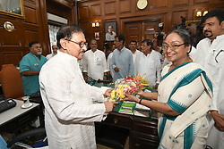 July 4, 2017 - Kolkata, West Bengal, India - West Bengal Assembly house speaker Biman Banerjee Wel come to Meera Kumar  Candidate of President election at the election campaign West Bengal Assembly house on July 04,2017 in Kolkata,India. (Credit Image: © Debajyoti Chakraborty/NurPhoto via ZUMA Press)