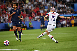 June 28, 2019 - Paris, ile de france, France - Megan RAPINOE (USA) scored the second goal during the second period of the quarter-final between FRANCE vs USA in the 2019 women's football World cup at Parc des Princes in Paris, on the 28 June 2019. (Credit Image: © Julien Mattia/NurPhoto via ZUMA Press)
