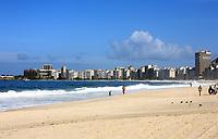 copacabana beach in rio de janeiro in brazil