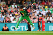 17th February 2019, Marvel Stadium, Melbourne, Australia; Australian Big Bash Cricket League Final, Melbourne Renegades versus Melbourne Stars; Sandeep Lamichhane of the Melbourne Stars bowls