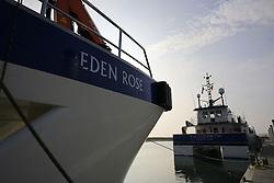 UK ENGLAND NORFOLK SHERINGHAM SHOAL 25SEP13 - Tidal Transit vessels moored at Wells harbour on the Norfolk coast, England.<br /> <br /> <br /> <br /> jre/Photo by Jiri Rezac<br /> <br /> <br /> <br /> © Jiri Rezac 2013