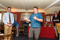 Simon McIlwaineITCA speaking at the conclusion of the Topper Winter Championships ar Royal Cork.