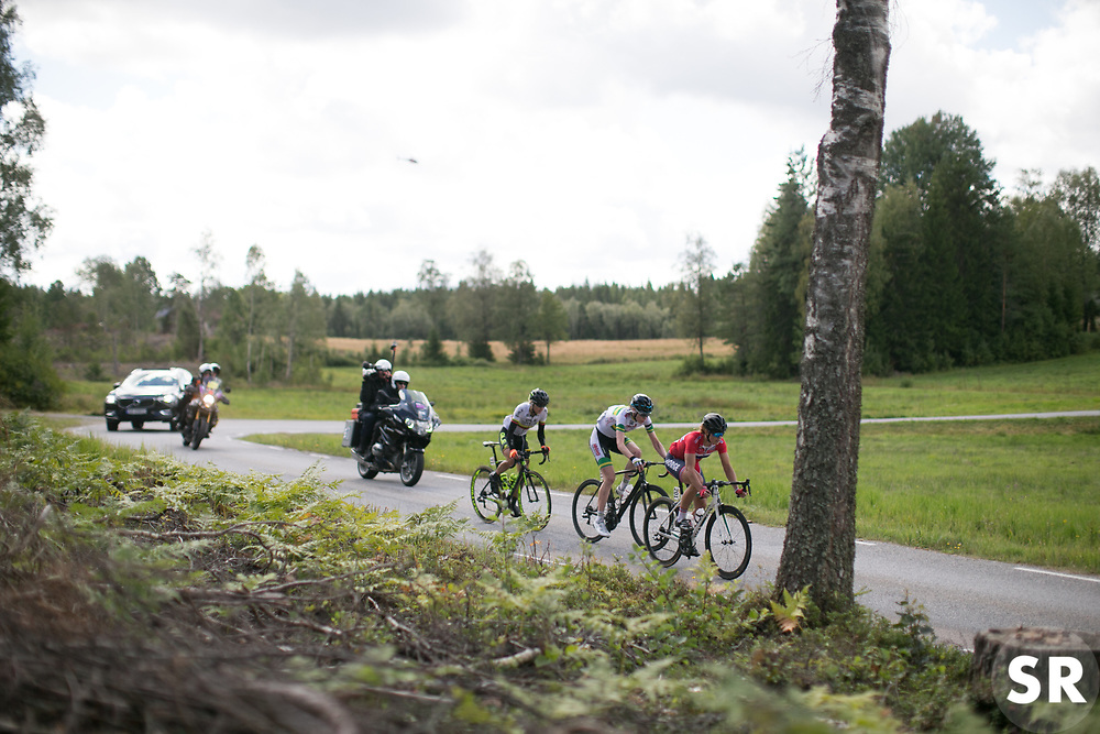 A small break manages to get away on Stage 3 of the Ladies Tour of Norway - a 156.6 km road race, between Svinesund (SE) and Halden on August 20, 2017, in Ostfold, Norway. (Photo by Balint Hamvas/Velofocus.com)