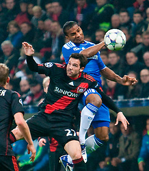 23.11.2011, BayArena, Leverkusen, Germany, UEFA CL, Gruppe E, Bayer 04 Leverkusen (GER) vs Chelsea FC (ENG), im Bild Chelsea's Florent Malouda and Bayer Leverkusen's Gonzalo Castro during the football match of UEFA Champions league, group E, between Bayer Leverkusen (GER) and FC Chelsea (ENG) at BayArena, Leverkusen, Germany on 2011/11/23. EXPA Pictures © 2011, PhotoCredit: EXPA/ Sportida/ David Tickle..***** ATTENTION - OUT OF ENG, GBR, UK *****