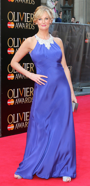 © Licensed to London News Pictures. 13/04/2014, UK. Katherine Kingsley, The Laurence Olivier Awards, Royal Opera House, London UK, 13 April 2014. Photo credit : Richard Goldschmidt/Piqtured/LNP