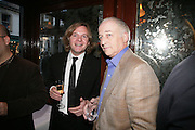 James turner and John Hosinger, PJ's Annual Polo Party . Annual Pre-Polo party that celebrates the start of the 2007 Polo season.  PJ's Bar & Grill, 52 Fulham Road, London, SW3. 14 May 2007. <br /> -DO NOT ARCHIVE-© Copyright Photograph by Dafydd Jones. 248 Clapham Rd. London SW9 0PZ. Tel 0207 820 0771. www.dafjones.com.