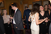 RIGHT: NATALIA BONDARENKO: ELIZABETH MESHKVICHEVA, Pedro Girao of Christies and Duncan Macintyre of Lombard Odier host the last dinner at the Old Annabels. 44 Berkeley Sq. London. 15 November 2018