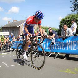CYCLING, Huy (Belgium): The fourth race in de UCI womens worldcup Fleche Walonne. Lucinda Brand op dfe Muurr van Huy