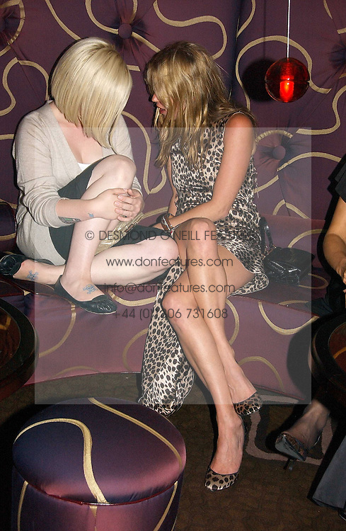 Left to right, KELLY OSBOURNE and KATE MOSS at a party to celebrate the opening of The Bar at The Dorchester, Park Lane, London on 27th June 2006.<br /><br />NON EXCLUSIVE - WORLD RIGHTS