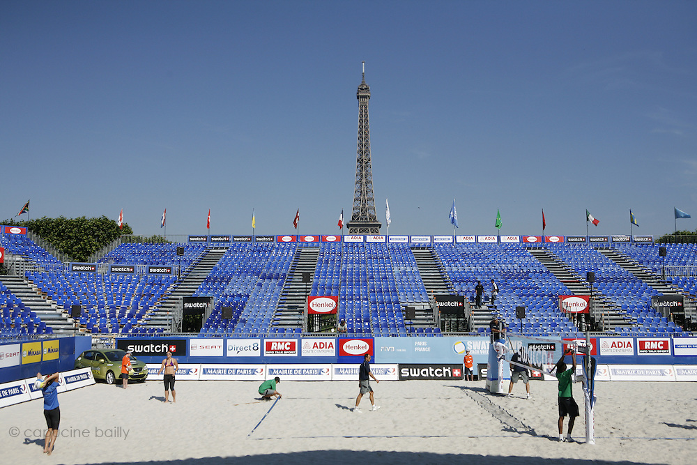 Tuesday June 17th 2008. Paris, France.Swatch FIVB World Tour - Henkel Grand Chelem...