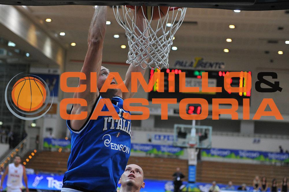 DESCRIZIONE : Trento Trentino Basket Cup Italia Polonia<br /> GIOCATORE : marco cusin<br /> CATEGORIA : schiacciata<br /> SQUADRA : Nazionale Italia Maschile<br /> EVENTO :  Trento Trentino Basket Cup<br /> GARA : Italia Polonia<br /> DATA : 09/08/2013<br /> SPORT : Pallacanestro<br /> AUTORE : Agenzia Ciamillo-Castoria/M.Gregolin<br /> Galleria : FIP Nazionali 2013<br /> Fotonotizia : Trento Trentino Basket Cup Italia Polonia<br /> Predefinita :