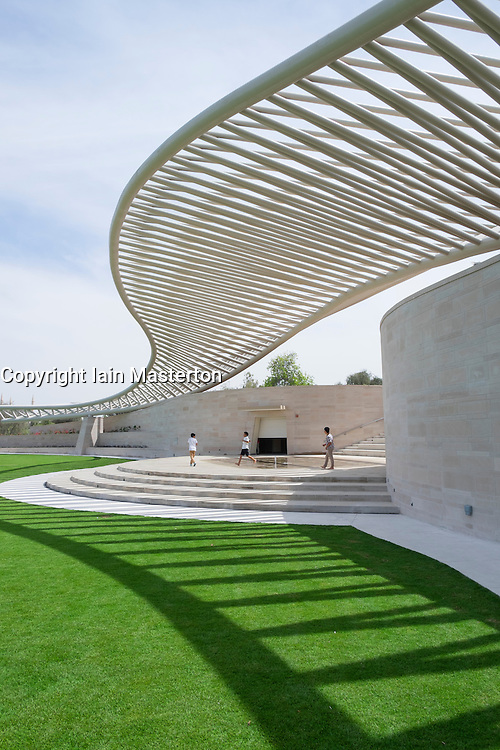 Amphitheatre at New Mushrif Central Park in Abu Dhabi United Arab Emirates