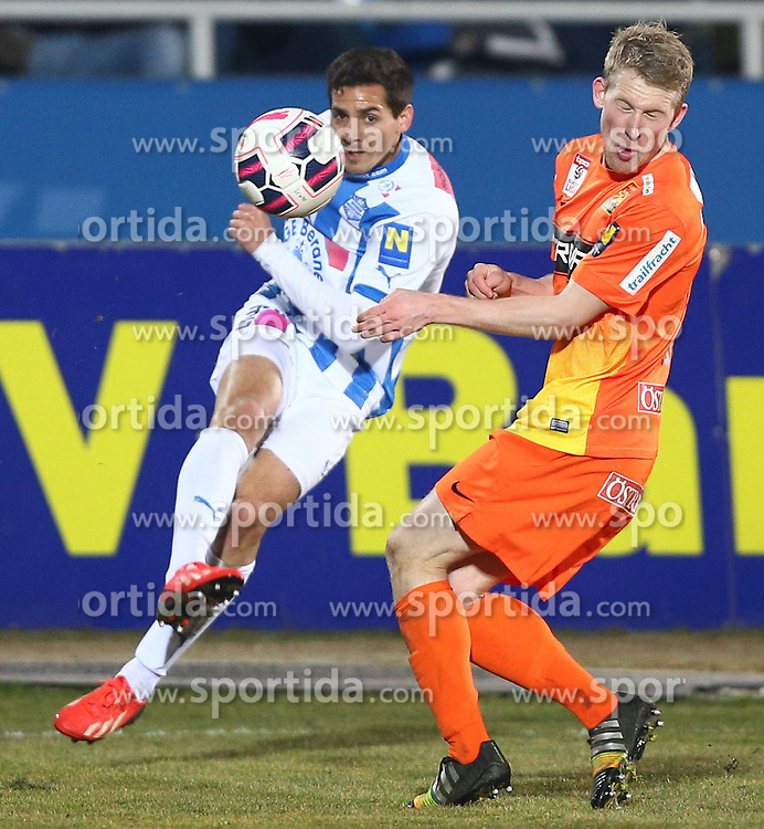 07.03.2015, Stadion Wiener Neustadt, Wiener Neustadt, AUT, 1. FBL, SC Wiener Neustadt vs FC Admira Wacker Moedling, 24. Runde, im Bild Abd Al Rahman Osman Ali (SC Wiener Neustadt) und Thomas Ebner (FC Admira Wacker Moedling) // during a Austrian Football Bundesliga Match, 24th Round, between SC Wiener Neustadt vs FC Admira Wacker Moedling at the Stadion Wiener Neustadt, Wiener Neustadt, Austria on 2015/03/07. EXPA Pictures © 2015, PhotoCredit: EXPA/ Thomas Haumer
