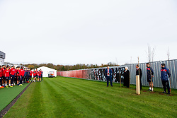 Representatives of Bristol City take part in a ceremony to plant tree's in memory of the 7 Bristol City player's who lost their lives serving during WW1 - Rogan/JMP - 09/11/2018 - FOOTBALL - Failand Training Ground - Bristol, England.