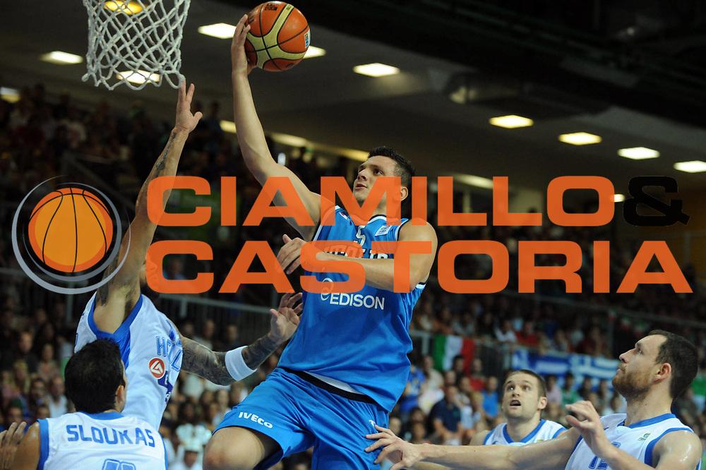 DESCRIZIONE : Capodistria Koper Slovenia Eurobasket Men 2013 Preliminary Round Italia Grecia Italy Greece<br /> GIOCATORE : Alessandro Gentile<br /> CATEGORIA : Tiro<br /> SQUADRA : Italia<br /> EVENTO : Eurobasket Men 2013<br /> GARA : Italia Grecia Italy Greece<br /> DATA : 08/09/2013<br /> SPORT : Pallacanestro&nbsp;<br /> AUTORE : Agenzia Ciamillo-Castoria/Max.Ceretti<br /> Galleria : Eurobasket Men 2013 <br /> Fotonotizia : Capodistria Koper Slovenia Eurobasket Men 2013 Preliminary Round Italia Grecia Italy Greece<br /> Predefinita :