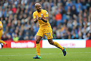 Preston North End defender Alex Baptiste (27) during the EFL Sky Bet Championship match between Brighton and Hove Albion and Preston North End at the American Express Community Stadium, Brighton and Hove, England on 15 October 2016.