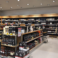 My heaven on earth. Every supermarket has a similar (or bigger) wine section. Got a dozen of a variety of regions and grapes for $40.