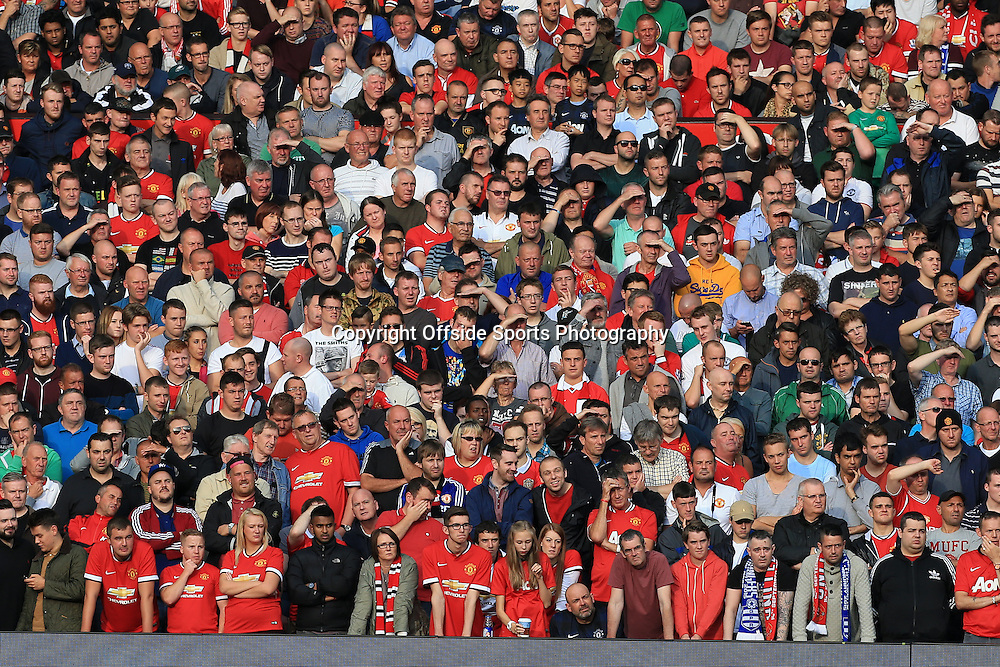 14th September 2014 - Barclays Premier League - Manchester United v Queens Park Rangers - Man Utd fans - Photo: Simon Stacpoole / Offside.