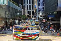 Chine, Hong Kong, Hong Kong Island, Des Voeux Road Central // China, Hong-Kong, Hong Kong Island, Des Voeux Road Central