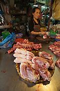 Hom Market. Pigs' feet.