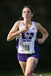 Kristina Popadich of the Western Mustangs  competes in the women's 5k  at the 2015 Western International Cross country meet in London Ontario, Saturday,  September 26, 2015.<br /> Mundo Sport Images/ Geoff Robins