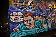Manafort on a Robert Muller float in the Krewe d'Etat parade in New Orleans during the 2019 Mardis Gras season.